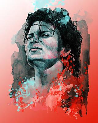 Jackson 5 Digital Art - Michael Jackson 13 by Bekim Art