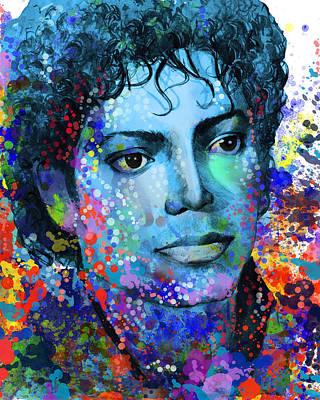 Michael Jackson Digital Art - Michael Jackson 14 by Bekim Art