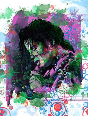Michael Jackson Digital Art - Michael Jackson 16 by Bekim Art