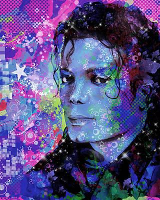 Michael Jackson Digital Art - Michael Jackson 17 by Bekim Art