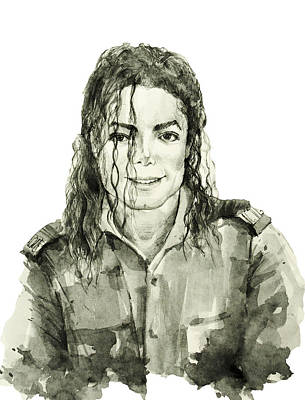Michael Jackson Drawing - Michael Jackson 4 by Bekim Art