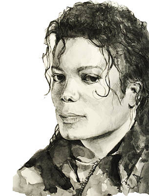 Michael Jackson Drawing - Michael Jackson 6 by Bekim Art