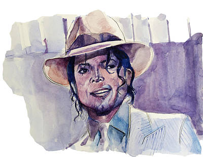 Michael Jackson Drawing - Michael Jackson 9 by Bekim Art