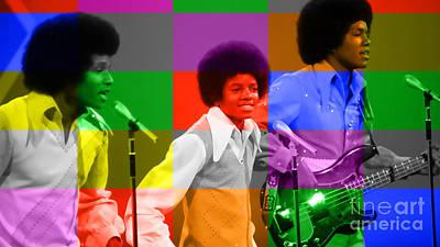 Michael Jackson Mixed Media - Michael Jackson And The Jackson 5 by Marvin Blaine