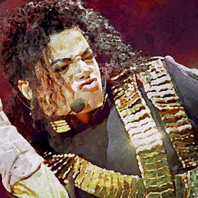 Michael Jackson Digital Art - Michael Jackson Concert 2 by Yury Malkov