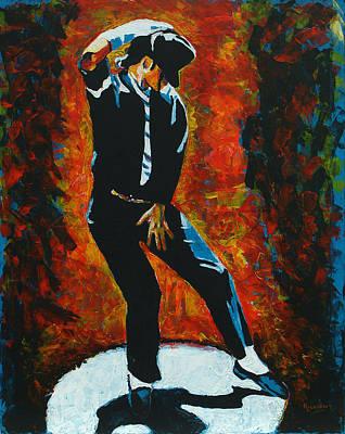 Michael Jackson Dancing The Dream Print by Patrick Killian