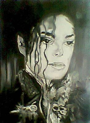 Michael Jackson Oil Painting - Michael Jackson by Grant Netherlands