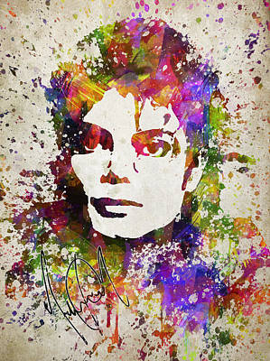 Michael Jackson In Color Print by Aged Pixel