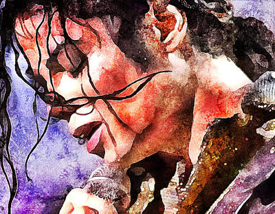 Michael Jackson Live And Alive 1 Print by Yury Malkov