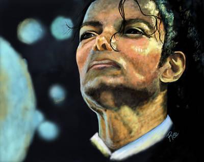 Michael Jackson Print by Maria Schaefers