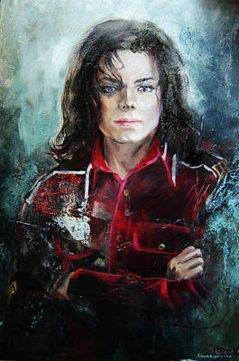 Michael Jackson Oil Painting - Michael Jackson  by Nelya Shenklyarska