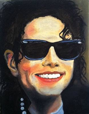 Michael Jackson Oil Painting - Michael Jackson by Ryszard Ludynia