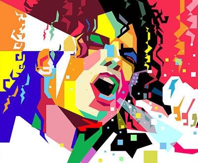 Michaeljackson Digital Art - Michael Jackson Singing On Wpap by Ahmad Nusyirwan