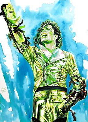 Michael Jackson Painting - Michael Jackson - Watercolor Portrait.14 by Fabrizio Cassetta