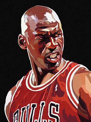 Portrait Digital Art - Michael Jordan by Bollmann Benjamin