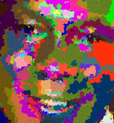 Michael Jordan Portrait Painting - Michael Jordan Abstract 01 by Samuel Majcen