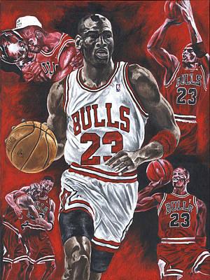 David Courson Painting - Michael Jordan by David Courson