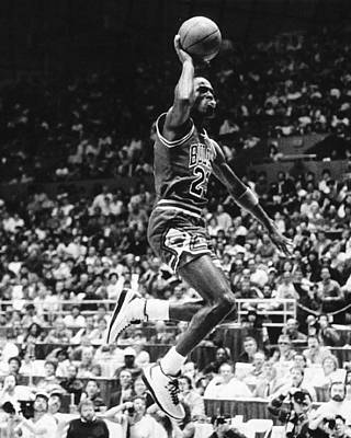 Wizard Photograph - Michael Jordan Gliding by Retro Images Archive