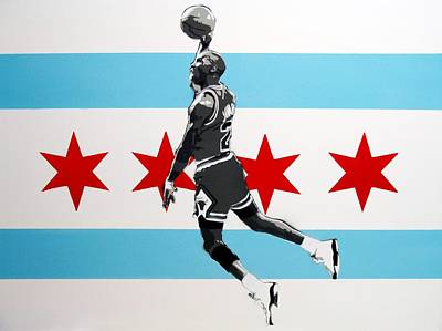 Michael Jordan  Print by Mark  Burns