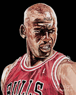 Michael Jordan The Intimidator Print by Israel Torres