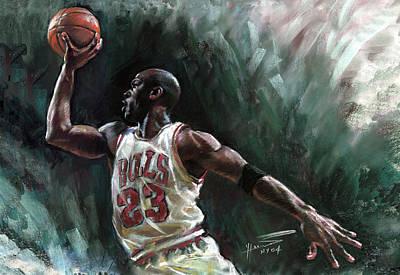 Michael Jordan Print by Ylli Haruni