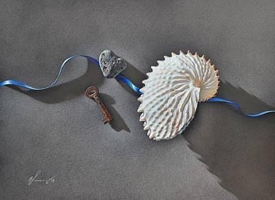 Mixed Media - Michael's Shell by Elena Kolotusha