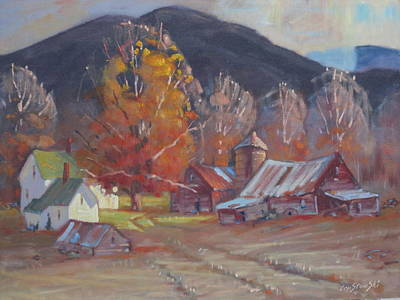 Farm And Barns Painting - Michalskis In Autumn Colors by Len Stomski