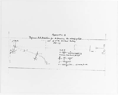 Michelson's Interferometer Design Print by Us Navy, Naval History And Heritage Command