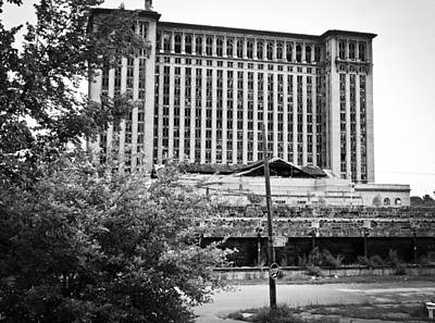 Horizontal Photograph - Michigan Central Station by Priya Ghose