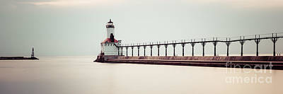 Indiana Photograph - Michigan City Lighthouse Panoramic Picture by Paul Velgos