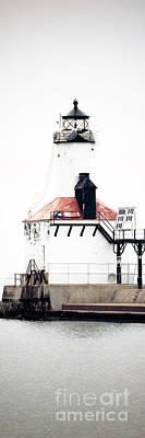 Michigan City Lighthouse Vertical Panorama Print by Paul Velgos