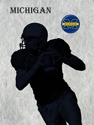 Michigan State Digital Art - Michigan Football  by David Dehner