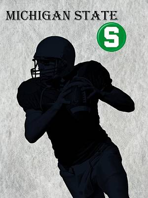 Michigan State Digital Art - Michigan State Football by David Dehner