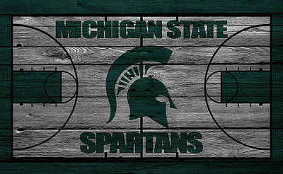 Benches Photograph - Michigan State Spartans by Joe Hamilton