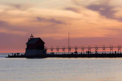 Coastline Photograph - Michigan Sunset by Adam Romanowicz