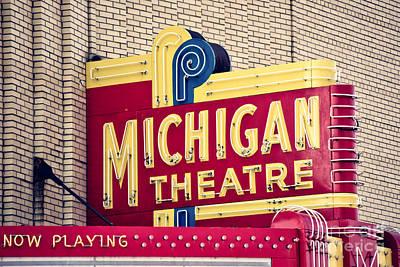Michigan Theatre Photograph - Michigan Theatre 2 by Emily Kay