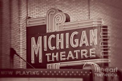 Michigan Theatre Photograph - Michigan Theatre by Emily Kay