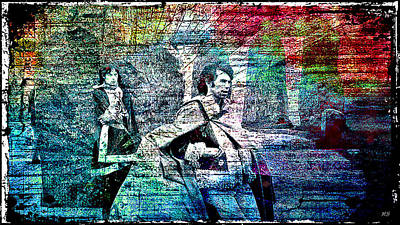 Keith Richards Digital Art - Mick And Keith - Stonehenge by Absinthe Art By Michelle LeAnn Scott