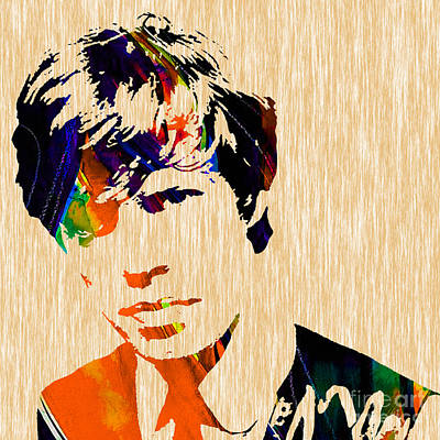 The Rolling Stones Mixed Media - Mick Jagger 1964 Painting by Marvin Blaine