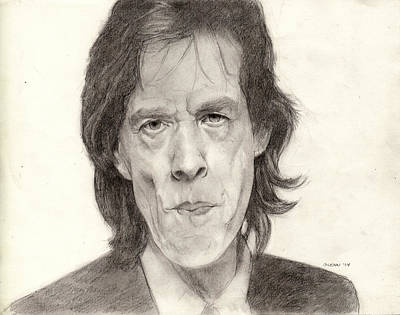 Rollingstone Drawing - Mick Jagger 2 by Glenn Daniels