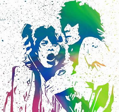 Mick Jagger Mixed Media - Mick Jagger And Keith Richards by Dan Sproul