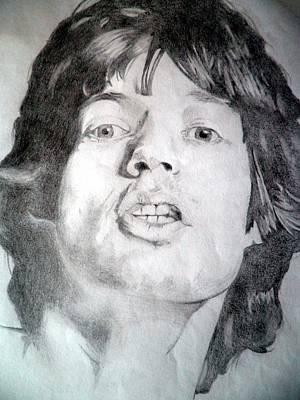 Mick Jagger - Large Print by Robert Lance
