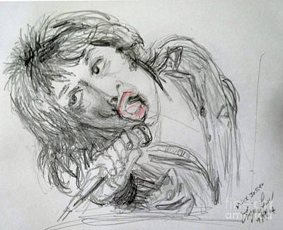Rolling Stones Drawing - Mick Jagger by Lyric Lucas