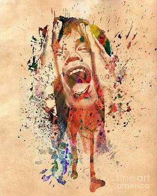 Mick Jagger Print by Mark Ashkenazi