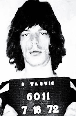 Rolling Stones Photograph - Mick Jagger Mugshot 1972 by Bill Cannon