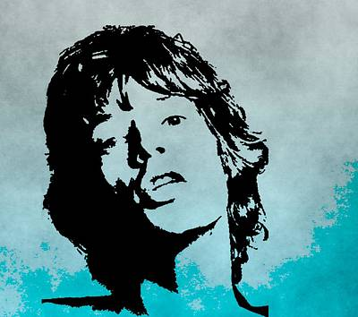 Keith Richards Digital Art - Mick Jagger Poster by Dan Sproul
