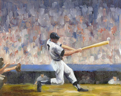 Mickey Mantle Painting - Mickey by Joe Maracic