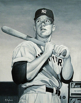 Mickey Mantle Painting - Mickey Mantle by Agustin Iglesias