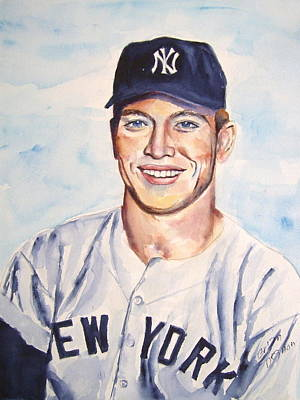 Mickey Mantle Painting - Mickey Mantle by Brian Degnon