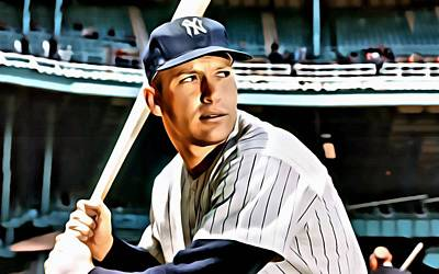 Mickey Mantle Vintage Photograph - Mickey Mantle by Florian Rodarte